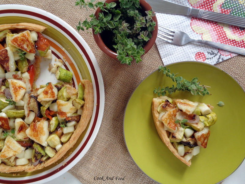 Cook and Feed | Vegetable & Mastelo Cheese Tart 2