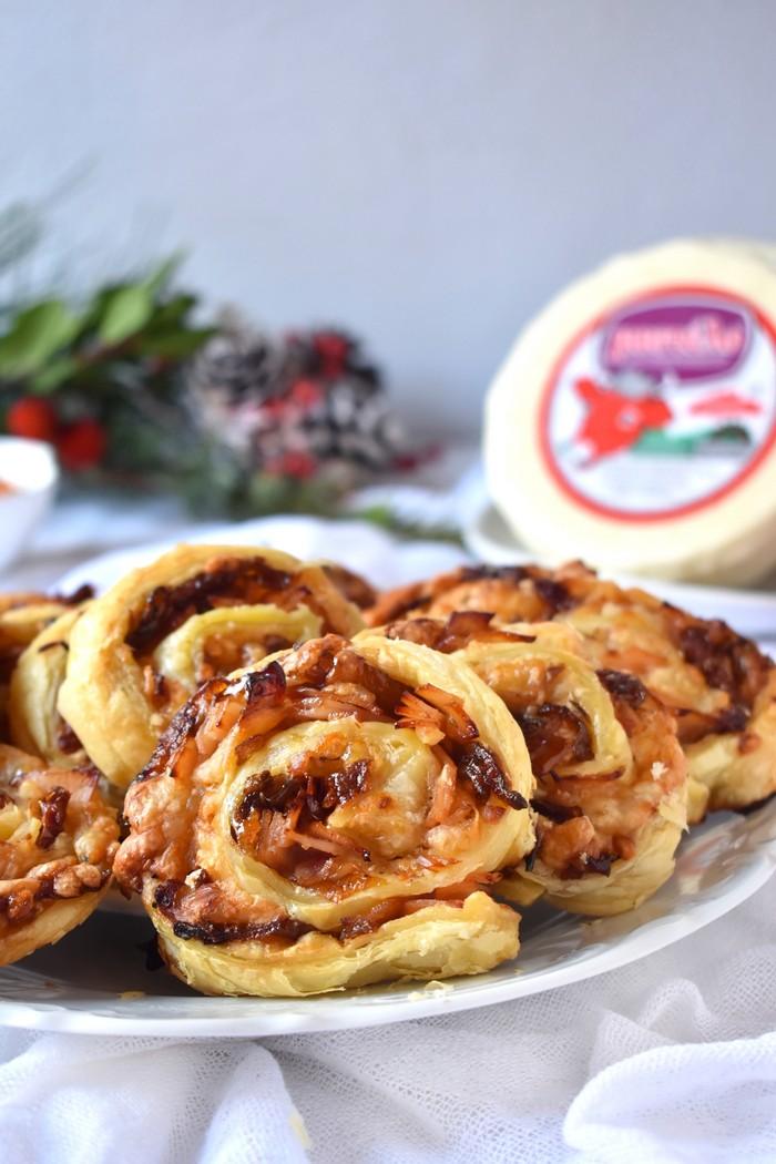 Ρολάκια με Μαλακό τυρί Μαστέλο® Καπνιστή Γαλοπούλα & Καραμελωμένα Κρεμμύδια 2