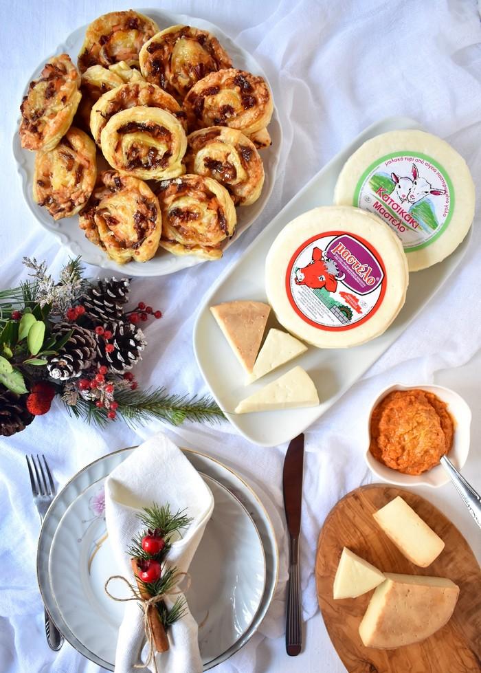 Ρολάκια με Μαλακό τυρί Μαστέλο® Καπνιστή Γαλοπούλα & Καραμελωμένα Κρεμμύδια 4