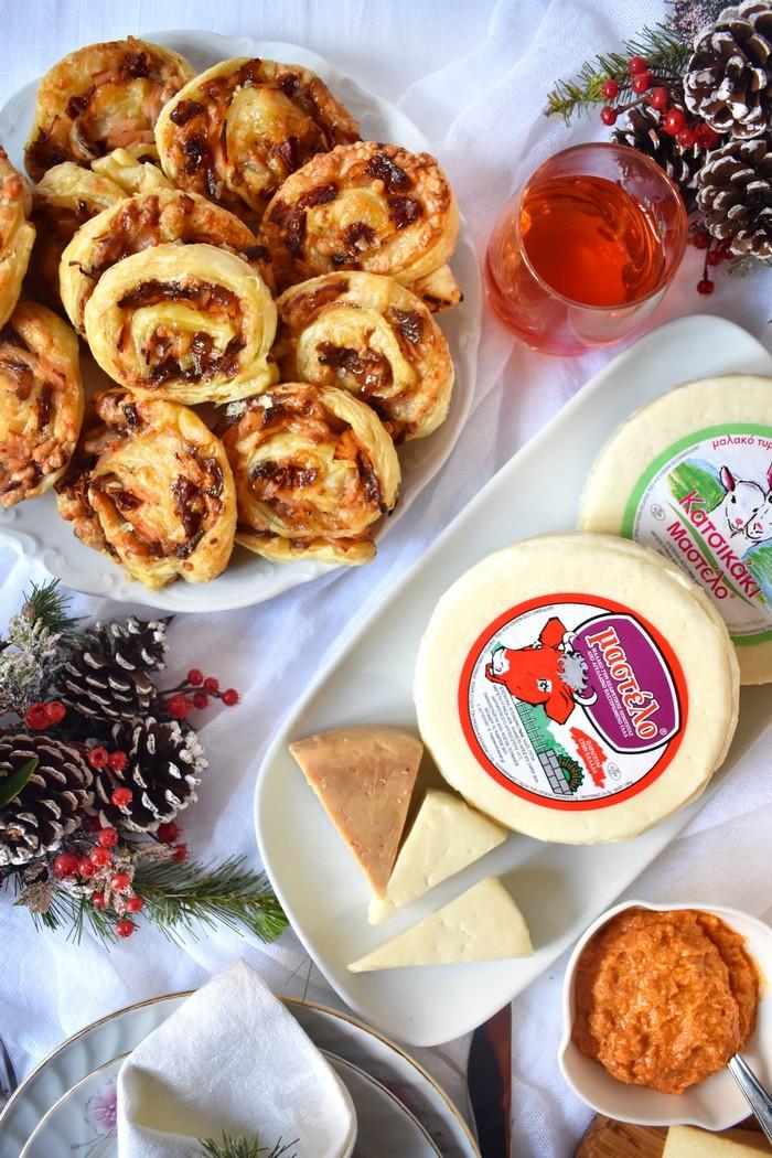 Ρολάκια με Μαλακό τυρί Μαστέλο® Καπνιστή Γαλοπούλα & Καραμελωμένα Κρεμμύδια 3
