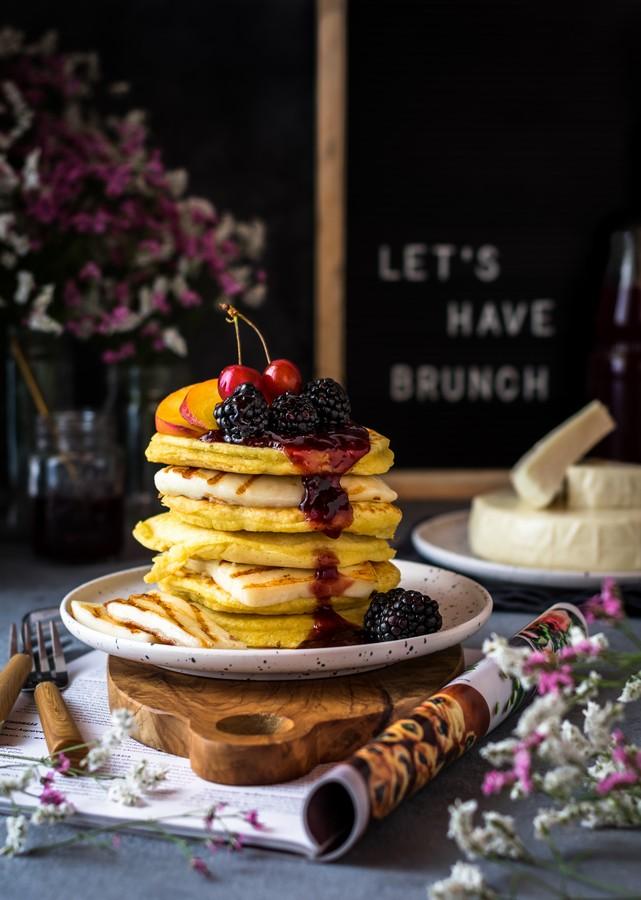 Γλυκά & αλμυρά pancakes με μαλακό τυρί Μαστέλο® 3