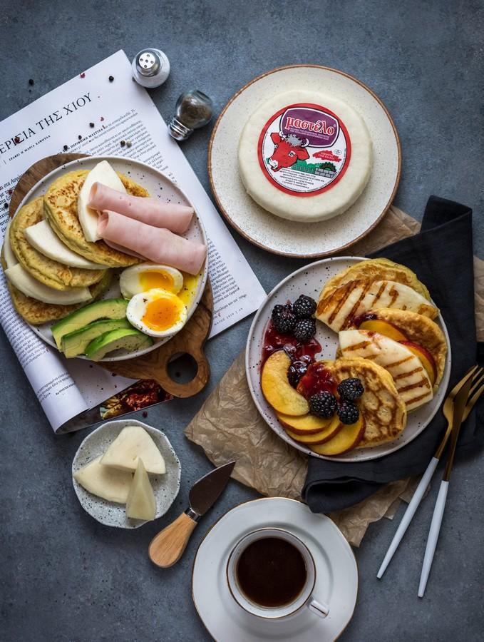 Γλυκά & αλμυρά pancakes με μαλακό τυρί Μαστέλο® 5