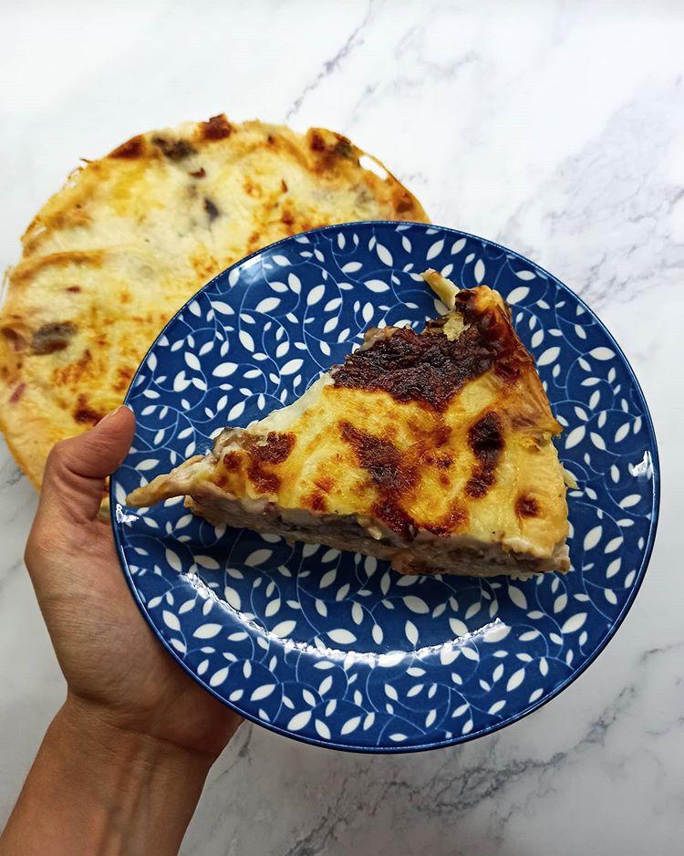 Χορτοφαγικό παστίτσιο με μανιτάρια, μελιτζάνα & Μαστέλο®